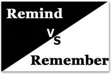 Разница между remember и remind